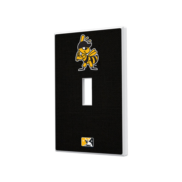 Salt Lake Bees Solid Hidden-Screw Light Switch Plate - Single Toggle