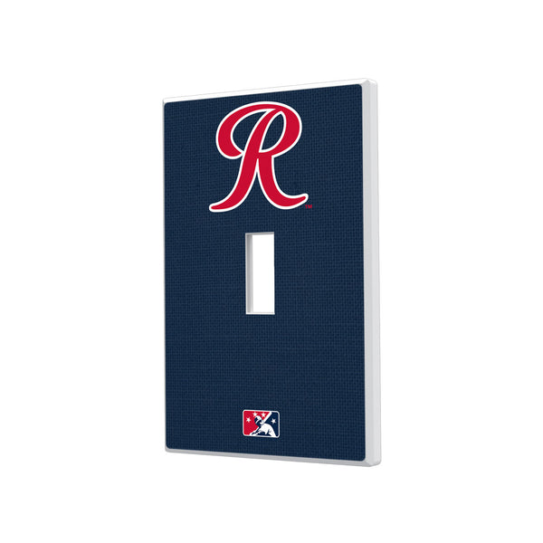Tacoma Rainiers Solid Hidden-Screw Light Switch Plate - Single Toggle