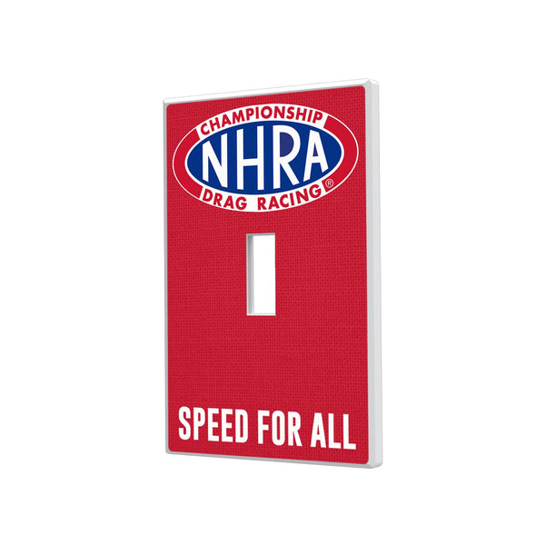 NHRA Solid Hidden-Screw Light Switch Plate - Single Toggle