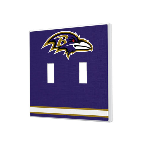 Baltimore Ravens Stripe Hidden-Screw Light Switch Plate - Double Toggle