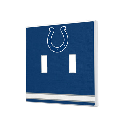 Indianapolis Colts Stripe Hidden-Screw Light Switch Plate - Double Toggle