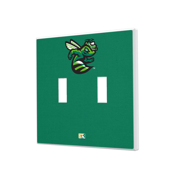 Augusta GreenJackets Solid Hidden-Screw Light Switch Plate - Double Toggle
