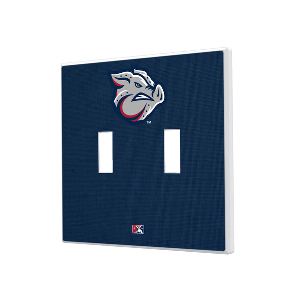 Lehigh Valley IronPigs Solid Hidden-Screw Light Switch Plate - Double Toggle