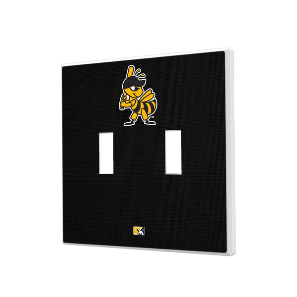 Salt Lake Bees Solid Hidden-Screw Light Switch Plate - Double Toggle