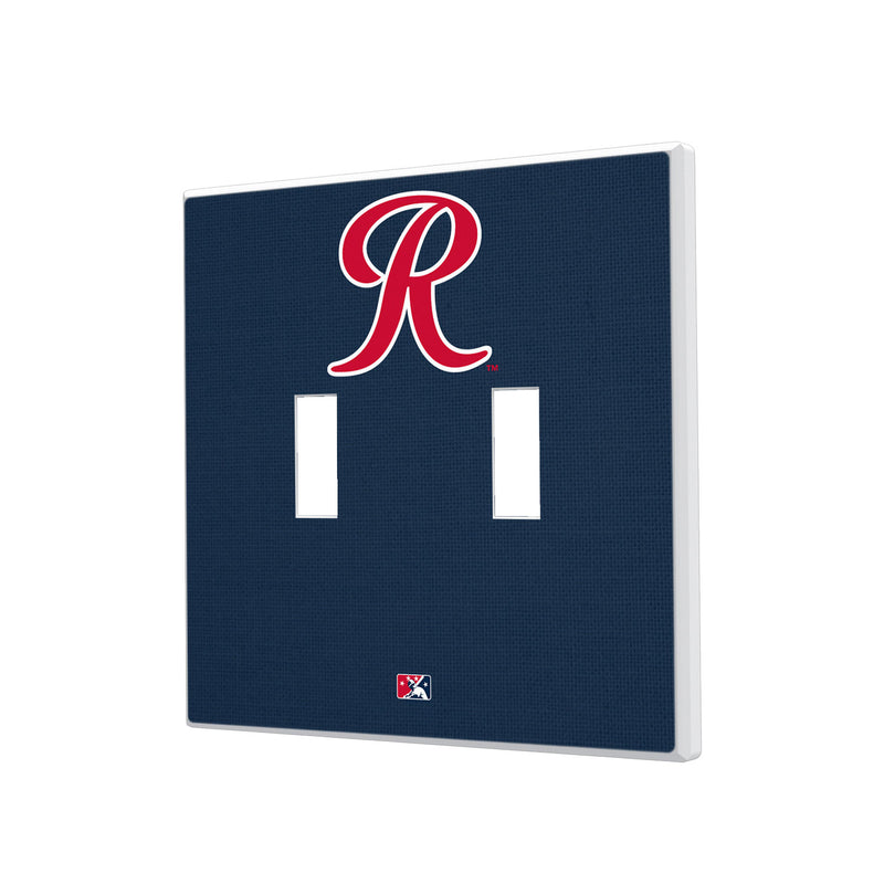Tacoma Rainiers Solid Hidden-Screw Light Switch Plate - Double Toggle