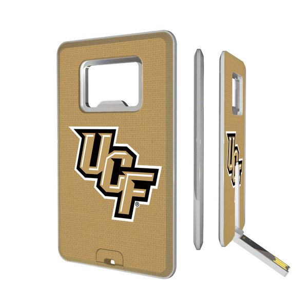 Central Florida Golden Knights Solid Credit Card USB Drive with Bottle Opener 16GB