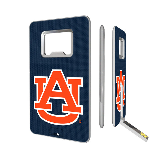 Auburn Tigers Solid Credit Card USB Drive with Bottle Opener 16GB