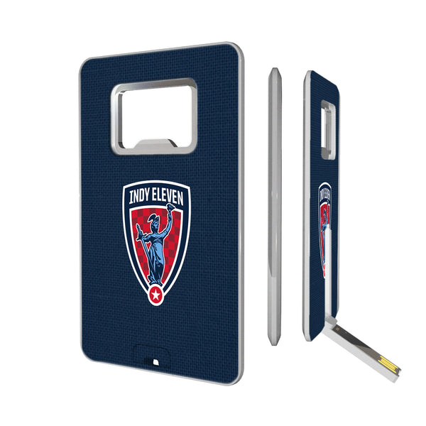 Indy Eleven  Solid Credit Card USB Drive with Bottle Opener 16GB