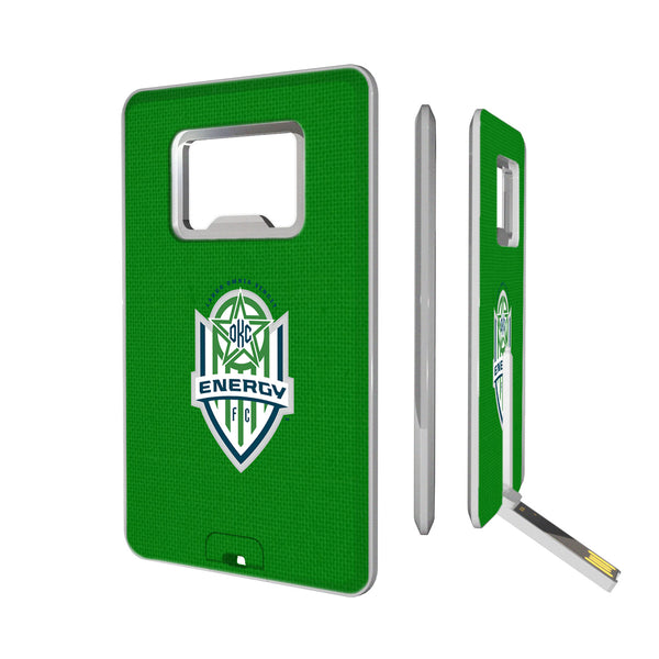 OKC Energy FC  Solid Credit Card USB Drive with Bottle Opener 16GB