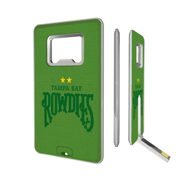 Tampa Bay Rowdies Solid Credit Card USB Drive with Bottle Opener 16GB