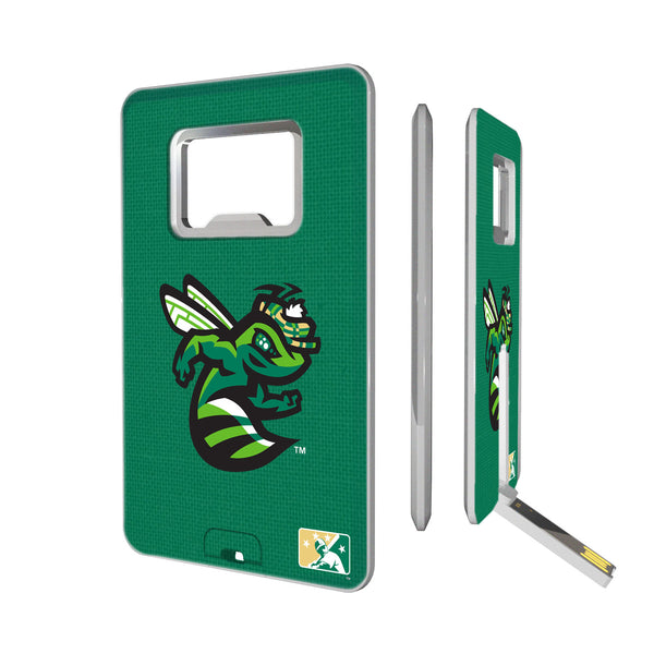 Augusta GreenJackets Solid Credit Card USB Drive with Bottle Opener 16GB