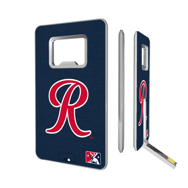 Tacoma Rainiers Solid Credit Card USB Drive with Bottle Opener 16GB