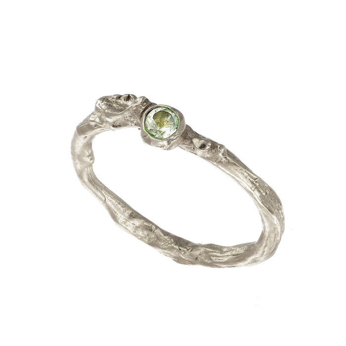 The Irish Shrubbery Collection Light Green Amethyst Silver Ring Loinnir Jewellery Irish Jewellery Designers Dublin