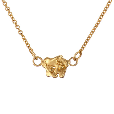 Giants Causeway Gold Plated Necklace Irish Jewellery Designer Loinnir