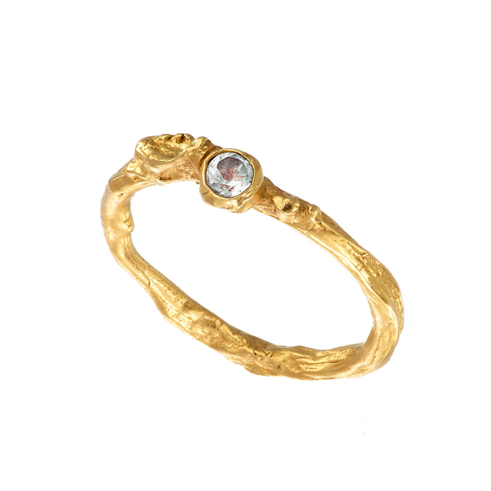 Gold Plated Irish Shrubbery Moonstone Gold Ring Irish Jewellery Designer Loinnir