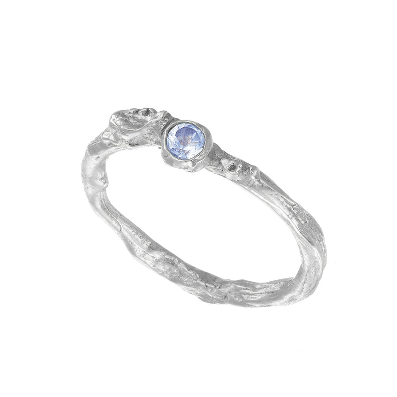 LSilver Irish Shrubbery Moonstone Ring Irish Jewellery Online Loinnir Jewellery