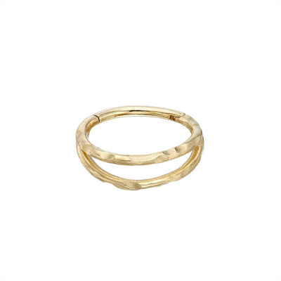 9k Gold Ór Double Band Helix Clicker Earring Irish Jewellery | Loinnir
