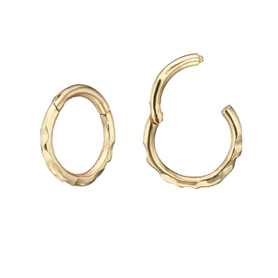 14k Gold Ór Single 8mm Clicker Earring Irish Jewellery Online | Loinnir