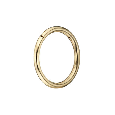 9k Gold Ór Plain Single 8mm Clicker Earring Irish Jewellery | Loinnir