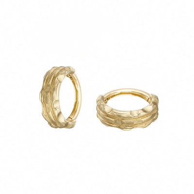 solid gold 9k or cuffed clicker earring Irish jewellery designer Loinnir