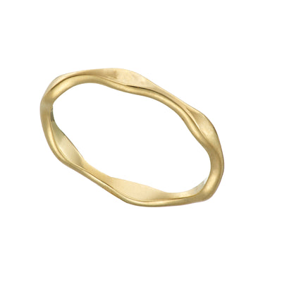 Solid Gold Tumulus 9K Gold Ring Irish Jewellery Designer Loinnir Jewellery