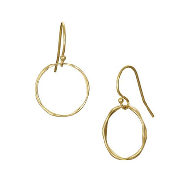 Gold Plated Tumulus Drop Earrings Irish Jewellery Designer Loinnir Jewellery
