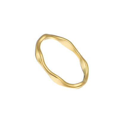 Gold Plated Tumulus Ring Irish Jewellery Designer Loinnir Jewellery