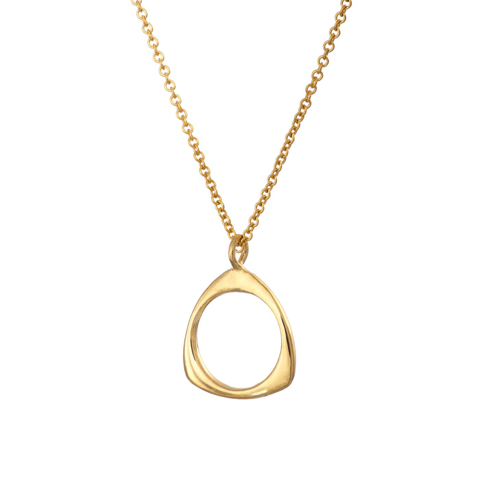 Gold Plated Trinity Necklace Irish Jewellery Designer Loinnir
