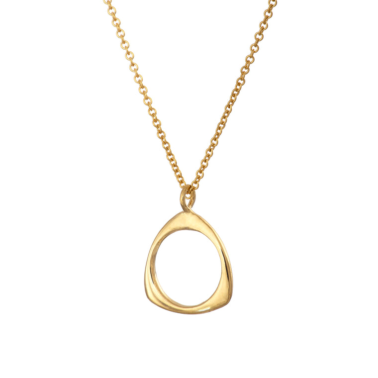 Gold Plated Trinity Necklace