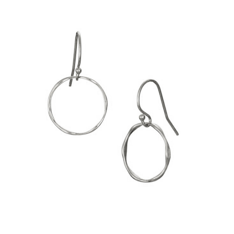 Silver Tumulus Drop Earrings