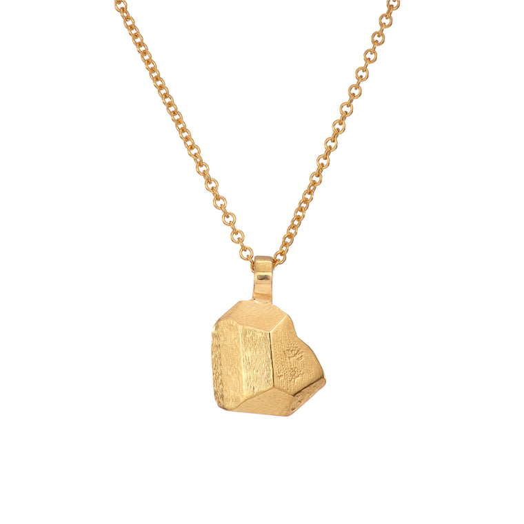 Gold Plated W. B. Yeats 'Stone of the Heart' Necklace