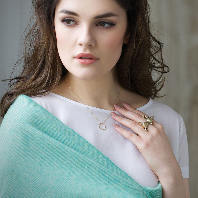 Gold Plated Tumulus Necklace Irish Jewellery Designer Loinnir Jewellery