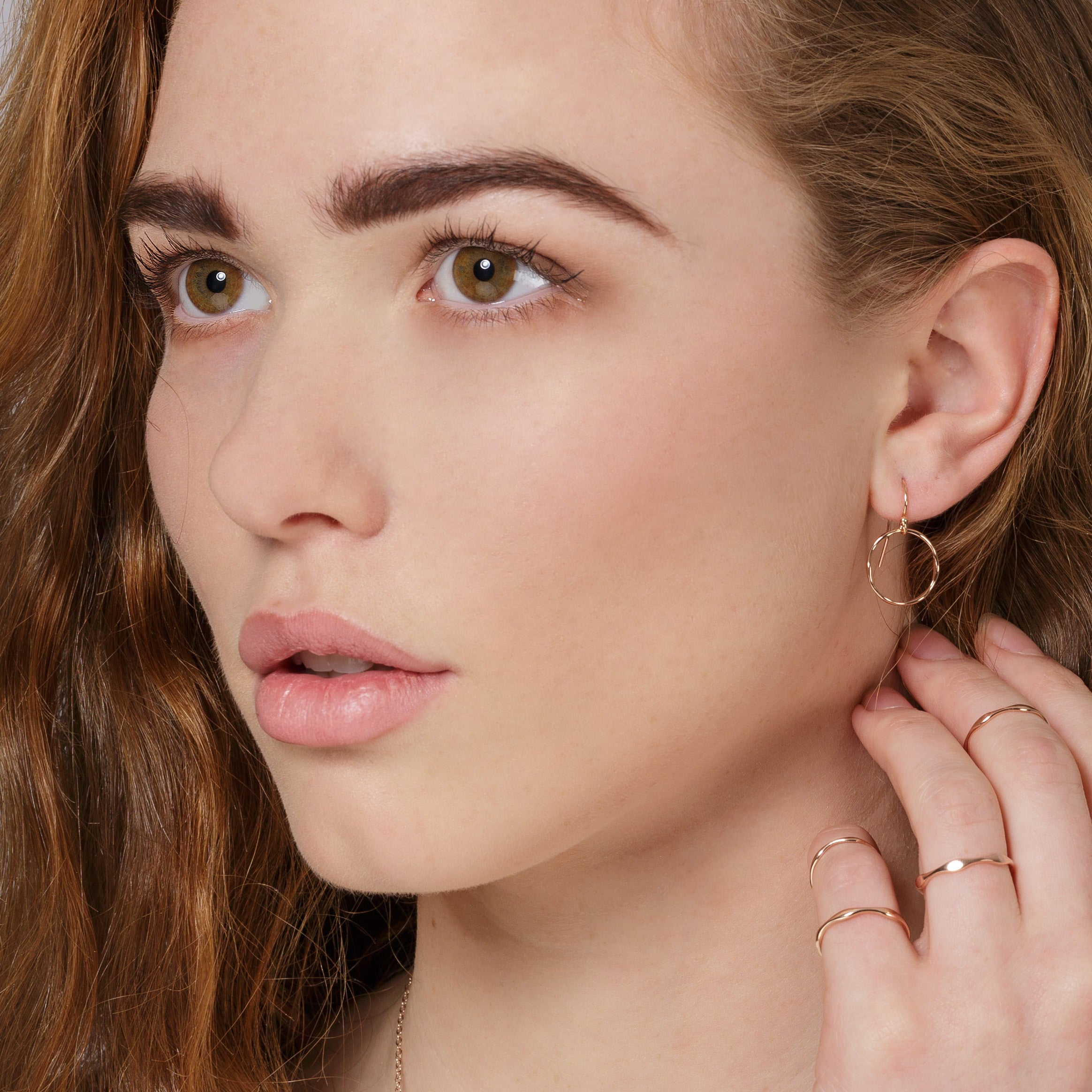 Tumulus Drop Yellow Gold Plated Silver Earrings Loinnir Jewellery Irish Jewellery Designer