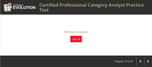 Category Analyst Practice Test for CMA Exam
