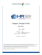 Pre-Employment & Personality Assessment for Category Managers