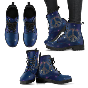 Peace Stars Women's Leather Boots