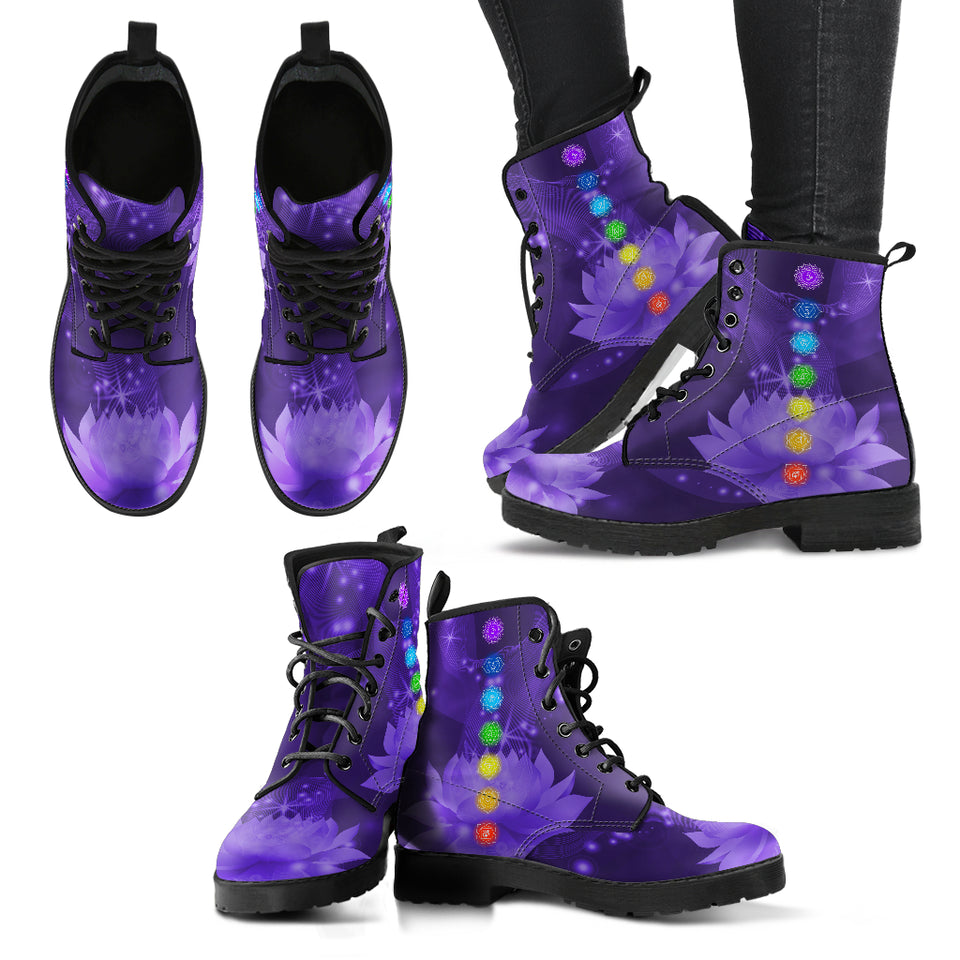 Chakra Lotus Women's Leather Boots