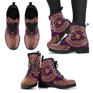 Ohm Mandala Fractal Women's Leather Boots