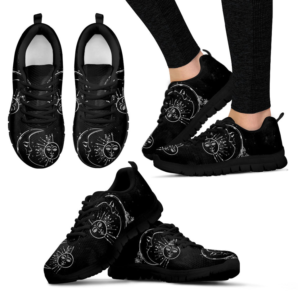 Blcak Sun & Moon Women's Sneakers