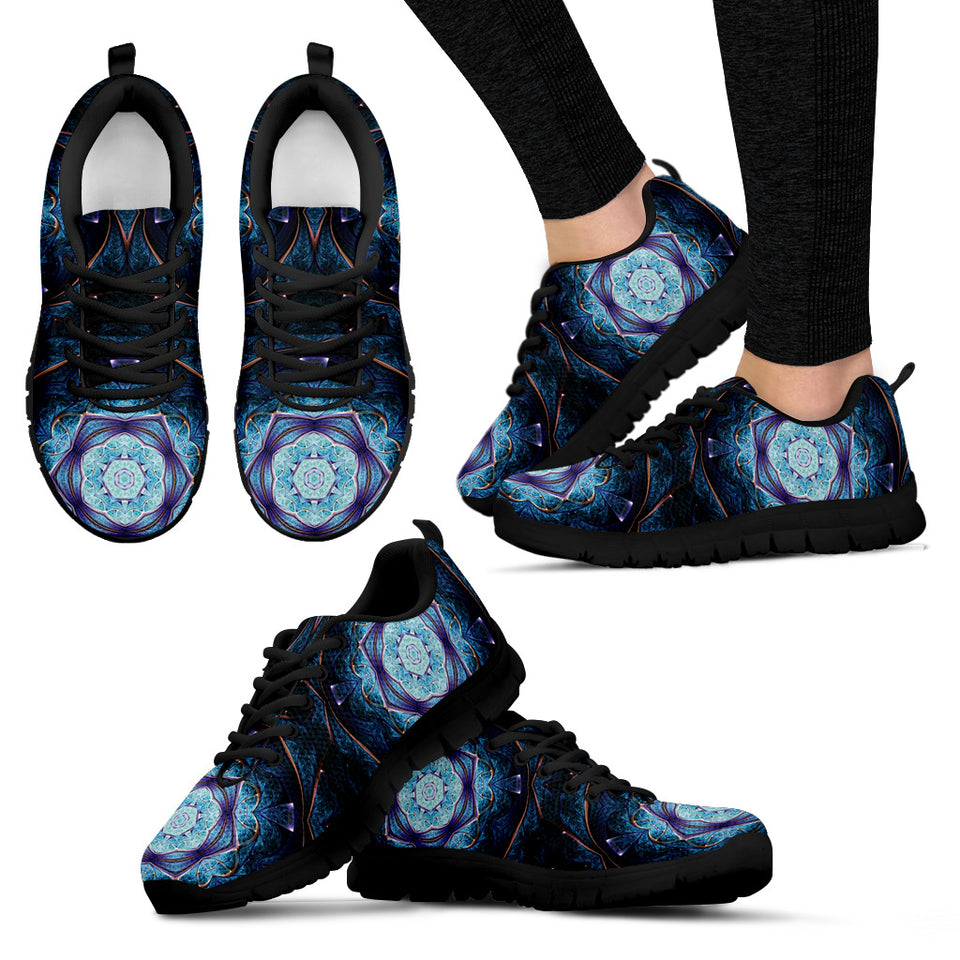 Blue Mandala Women's Sneakers