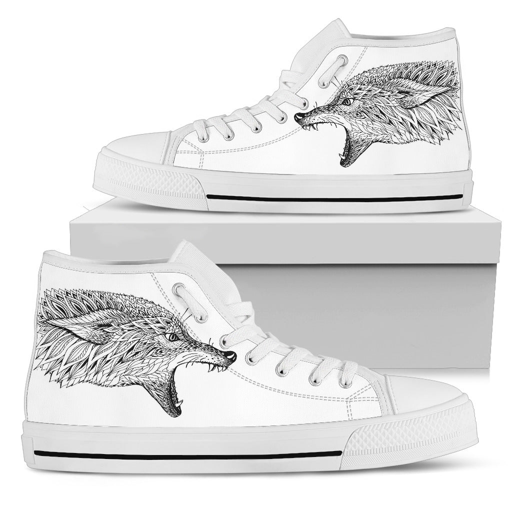Abstract Zen Wolf High Top