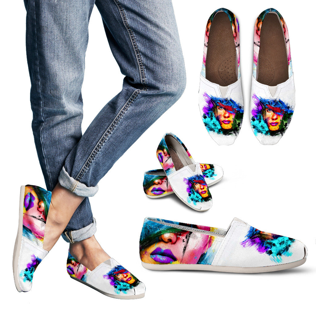 Abstract Face Casual Shoes
