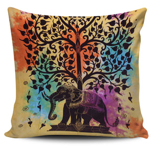 Colorful Tree Of Life Pillow Cover