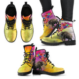 Elephant With Balloons Women's Leather Boots