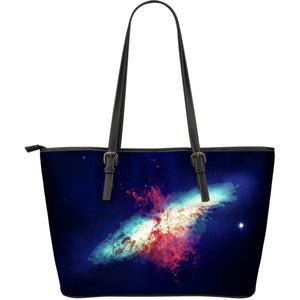 Large Leather Tote Cosmos