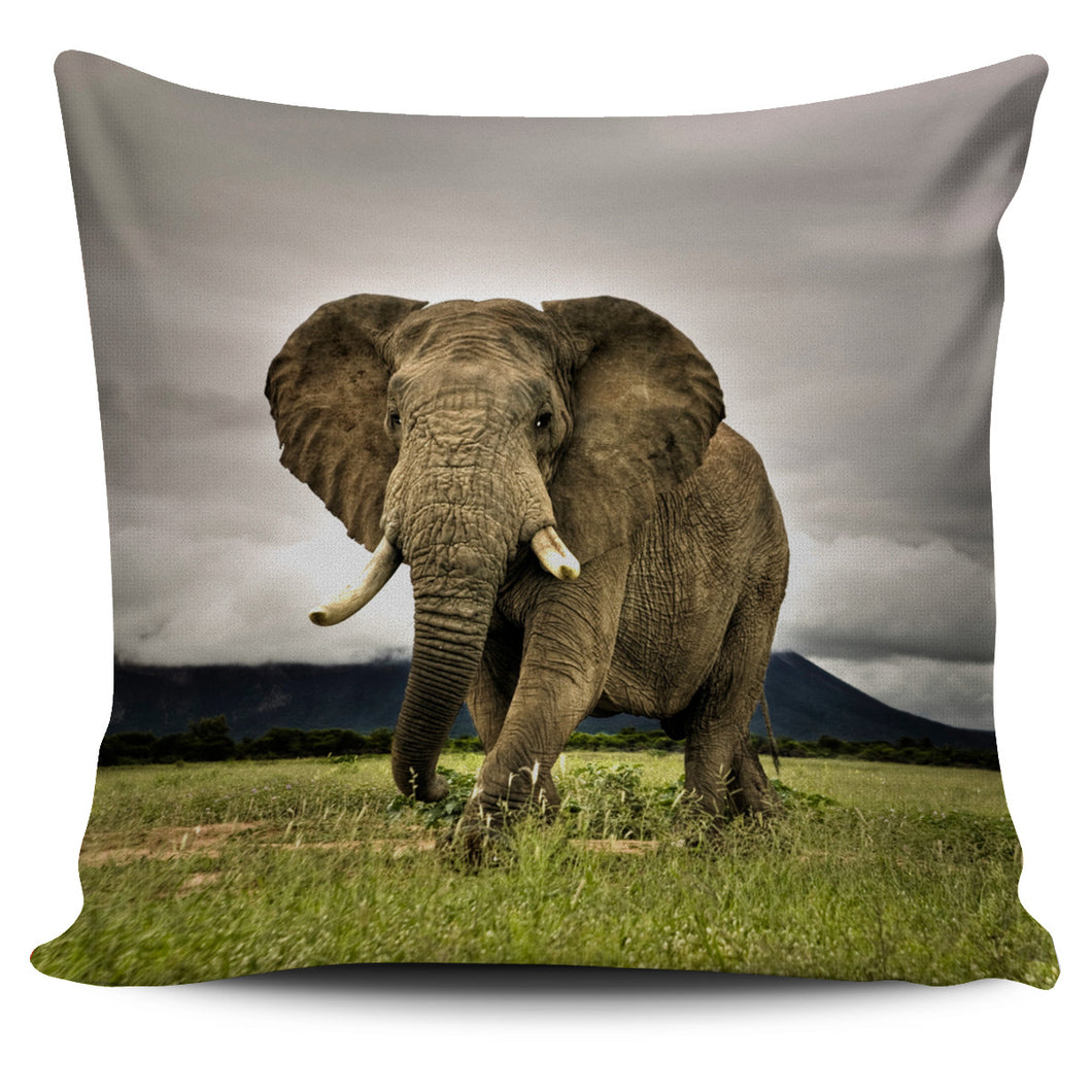 Majestic Elephant Pillow Cover