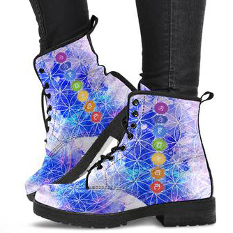 Glowing Chakra Women's Leather Boots