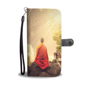 Meditating Monk Wallet Phone Case