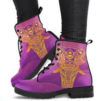 Glowing Elephant Women's Leather Boots