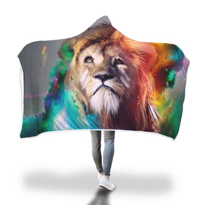 Majestic Lion Hooded Blanket